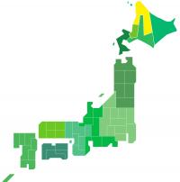 日本地図(道北)